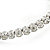 Bridal/ Wedding/ Prom Clear Crystal, White Glass Pearl Flex Bracelet In Rhodium Plating - Adjustable - view 5