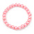 8mm Light Pink Pearl Style Single Strand Bead Flex Bracelet - 18cm L - view 5