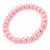 8mm Light Pink Pearl Style Single Strand Bead Flex Bracelet - 18cm L