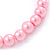 8mm Light Pink Pearl Style Single Strand Bead Flex Bracelet - 18cm L - view 4