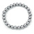 8mm Grey Pearl Style Single Strand Bead Flex Bracelet - 18cm L - view 5