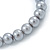 8mm Grey Pearl Style Single Strand Bead Flex Bracelet - 18cm L - view 3