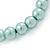 8mm Pale Green Pearl Style Single Strand Bead Flex Bracelet - 18cm L - view 4
