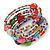 Multistrand Multicoloured Glass and Ceramic Bead Flex Bracelet - Adjustable - view 7