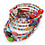 Multistrand Multicoloured Glass and Ceramic Bead Flex Bracelet - Adjustable - view 5