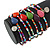 Multistrand Multicoloured Glass and Ceramic Bead Flex Bracelet - Adjustable - view 3