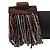 Plum/ Transparent/ Purple Glass Bead Multistrand Flex Bracelet With Wooden Closure - 19cm L - view 10