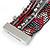 Hematite/ Silver/ Dark Red Glass Bead, Silk Cord Handmade Magnetic Bracelet - 18cm L - view 5