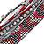 Hematite/ Silver/ Dark Red Glass Bead, Silk Cord Handmade Magnetic Bracelet - 18cm L - view 3