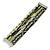 Silver/ Light Green/ Black Glass Bead, Silk Cord Handmade Magnetic Bracelet - 18cm L