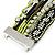 Silver/ Light Green/ Black Glass Bead, Silk Cord Handmade Magnetic Bracelet - 18cm L - view 7