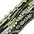 Silver/ Light Green/ Black Glass Bead, Silk Cord Handmade Magnetic Bracelet - 18cm L - view 3
