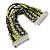 Silver/ Light Green/ Black Glass Bead, Silk Cord Handmade Magnetic Bracelet - 18cm L - view 6