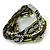 Silver/ Light Green/ Black Glass Bead, Silk Cord Handmade Magnetic Bracelet - 18cm L - view 9