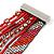 Silver/ Red/ Carrot/ Burgundy Glass Bead, Silk Cord Handmade Magnetic Bracelet - 18cm L - view 7
