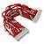 Silver/ Red/ Carrot/ Burgundy Glass Bead, Silk Cord Handmade Magnetic Bracelet - 18cm L - view 6
