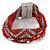 Silver/ Red/ Carrot/ Burgundy Glass Bead, Silk Cord Handmade Magnetic Bracelet - 18cm L - view 9