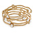 Off Round Etched  Gold Tone with White Glass Pearls Bangles - Set of 5 Pcs - view 7
