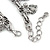 Vintage Inspired Elephant and Heart Charm Chunky Chain Bracelet In Silver Tone - 17cm L/ 5cm Ext - view 4