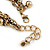 Vintage Inspired Coin and Bead Charm Chunky Link Bracelet In Antique Gold Tone Metal - 17cm L/ 5 cm Ext - view 5