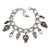 Vintage Inspired Owl Charm with Chunky Chain Bracelet In Silver Tone - 17cm L/ 4cm Ext