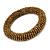 Bronze Glass Bead Roll Stretch Bracelet - Adjustable