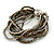 Multistrand Glass and Plastic Bead Flex Bracelet with a Ball (Silver/ Grey/ Bronze) - 18cm L - view 5