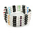 Hematite, Pearl, Glass Bead Magnetic Necklace/ Bracelet (Grey, White, Red, Blue, Green) - 90cm Total Length - view 9
