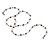Hematite, Pearl, Glass Bead Magnetic Necklace/ Bracelet (Grey, White, Red, Blue, Green) - 90cm Total Length - view 6