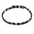 Hematite Bead with Semiprecious Multicoloured Stones Magnetic Necklace/ Bracelet - 90cm Total Length