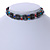 Hematite Bead with Semiprecious Multicoloured Stones Magnetic Necklace/ Bracelet - 90cm Total Length - view 4