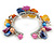 Multicoloured Sea Shell, Faux Pearl Bead Floral Cuff Bracelet In Silver Tone - Adjustable - view 4