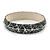Grey Mosaic Shell Component Resin Bangle Bracelet - 18cm L/ Medium - view 2