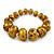 Glitter Gold/ Black Graduated Wooden Bead Flex Bracelet - 19cm L - view 2