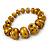Glitter Gold/ Black Graduated Wooden Bead Flex Bracelet - 19cm L - view 4