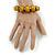 Glitter Gold/ Black Graduated Wooden Bead Flex Bracelet - 19cm L - view 3