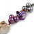 Multicoloured Shell , Faux Pearl Bead Cluster Bracelet - 16cm L/ 3cm Ext - For Smaller Wrists - view 5