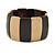 Dark Brown/ Natural Wooden Station Flex Bracelet - 18cm L