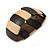 Dark Brown/ Natural Wooden Station Flex Bracelet - 18cm L - view 4