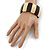 Dark Brown/ Natural Wooden Station Flex Bracelet - 18cm L - view 2