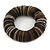 Black, Natural, Brown Shell Flex Bracelet - 17cm L