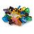 Multicoloured Square Acrylic Bead Flex Bracelet - 18cm L - view 3