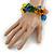 Multicoloured Square Acrylic Bead Flex Bracelet - 18cm L - view 2