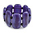 Fancy Purple Acrylic Bead Flex Bracelet - 19cm L/ Large