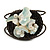 Sea Shell Bead Wired with Brown Cotton Cord Flex Bracelet - Adjustable - view 4