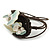 Sea Shell Bead Wired with Brown Cotton Cord Flex Bracelet - Adjustable - view 5