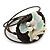 Sea Shell Bead Wired with Brown Cotton Cord Flex Bracelet - Adjustable - view 3