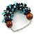 Teen/ Children/ Kids Solid Chunky Ceramic, Wood Bead, Sea Shell Cluster Bracelet - 16cm/ 5cm Ext - For Small Wrists Only - view 3