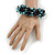 Teen/ Children/ Kids Solid Chunky Ceramic, Wood Bead, Sea Shell Cluster Bracelet - 16cm/ 5cm Ext - For Small Wrists Only - view 2