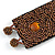 Handmade Boho Style Bronze/ Amber Glass Bead Wristband Bracelet - 16cm L/ 2cm Ext - view 4